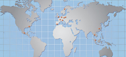 World Map showing where our consultants work